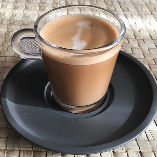 Preparar un cafe cortado